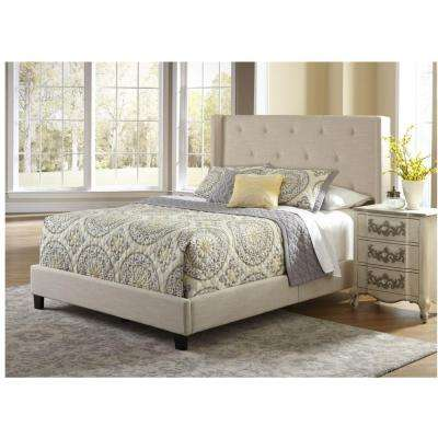 All-in-1 Stone Queen Upholstered Bed