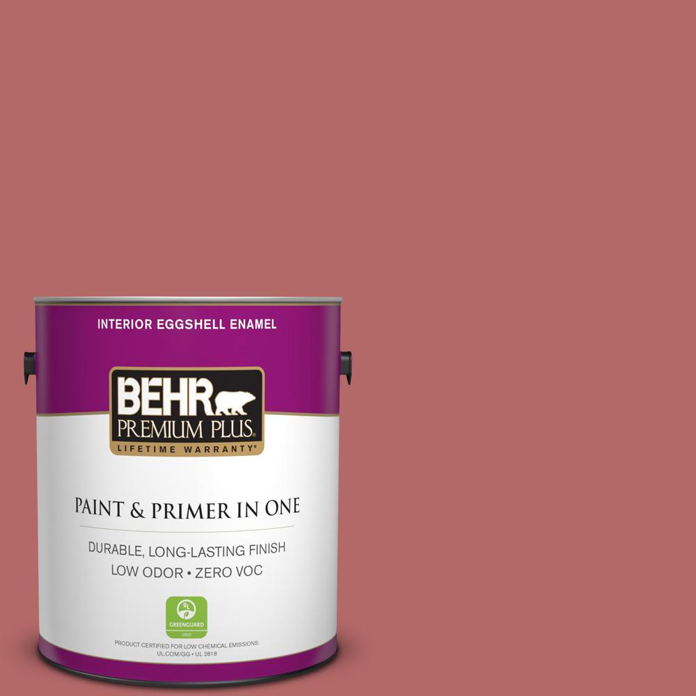 BEHR Premium Plus 1-gal. #PMD-12 Desert Rose Zero VOC Eggshell Enamel Interior Paint