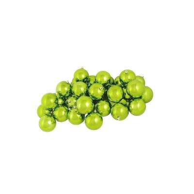 2.5 in. (60 mm) Shiny Green Kiwi Shatterproof Christmas Ball Ornaments (60-Count)