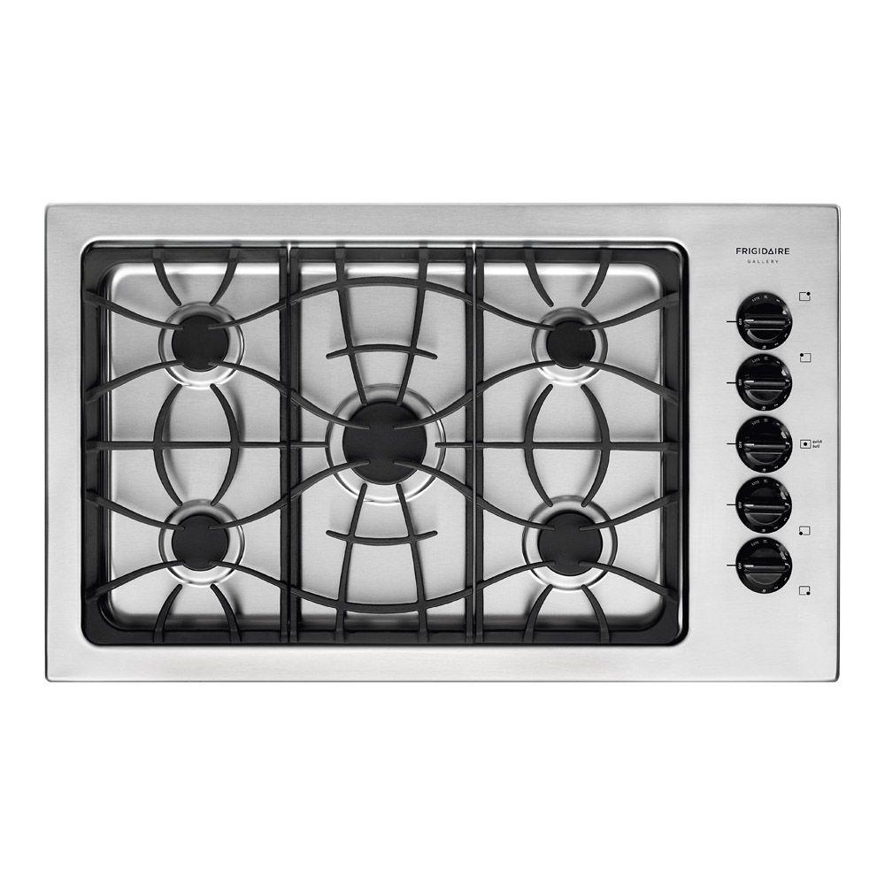 Frigidaire Gallery 36 in. Gas Cooktop in Stainless Steel with 5 burners