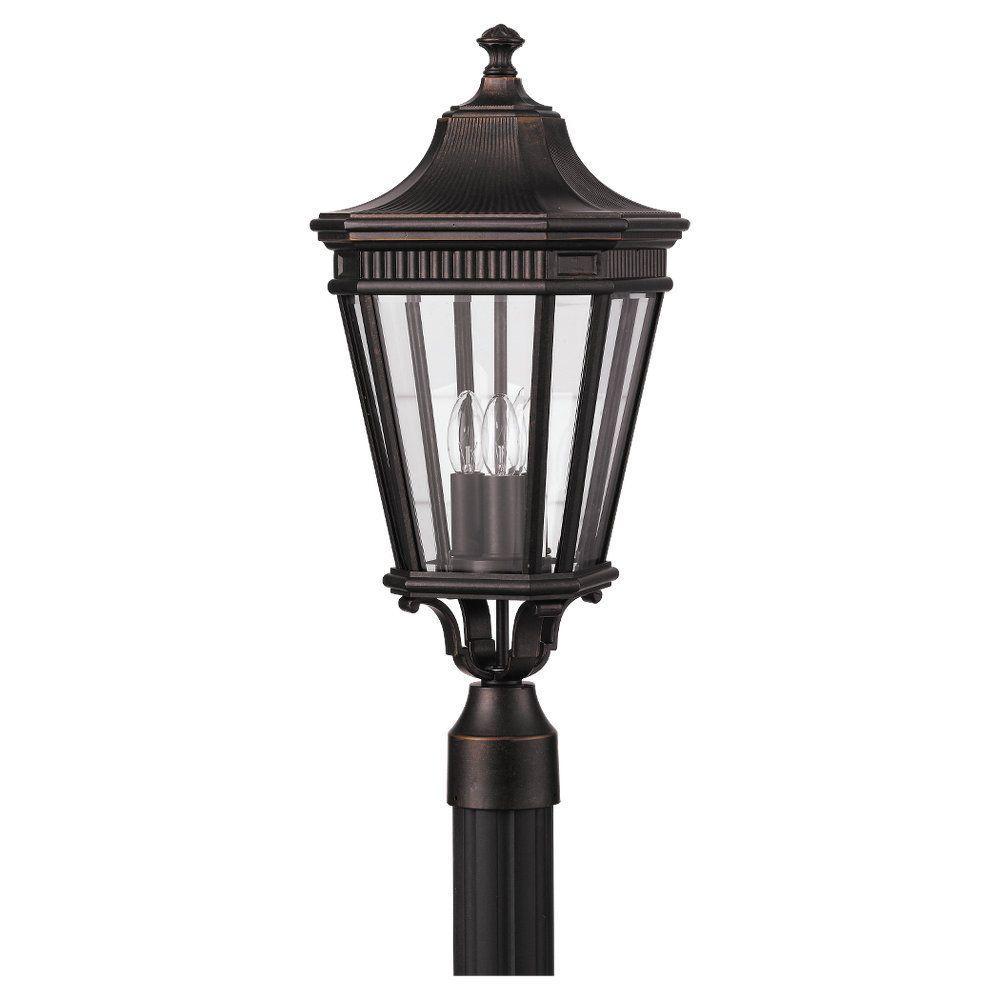 Cotswold Lane 3-Light Grecian Bronze Outdoor Post Light