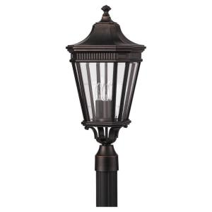 Feiss Cotswold Lane 3-Light Grecian Bronze Outdoor Post Light by Feiss