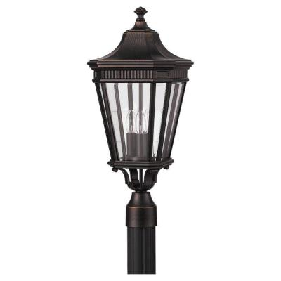 Cotswold Lane 3-Light Grecian Bronze Outdoor Post Light