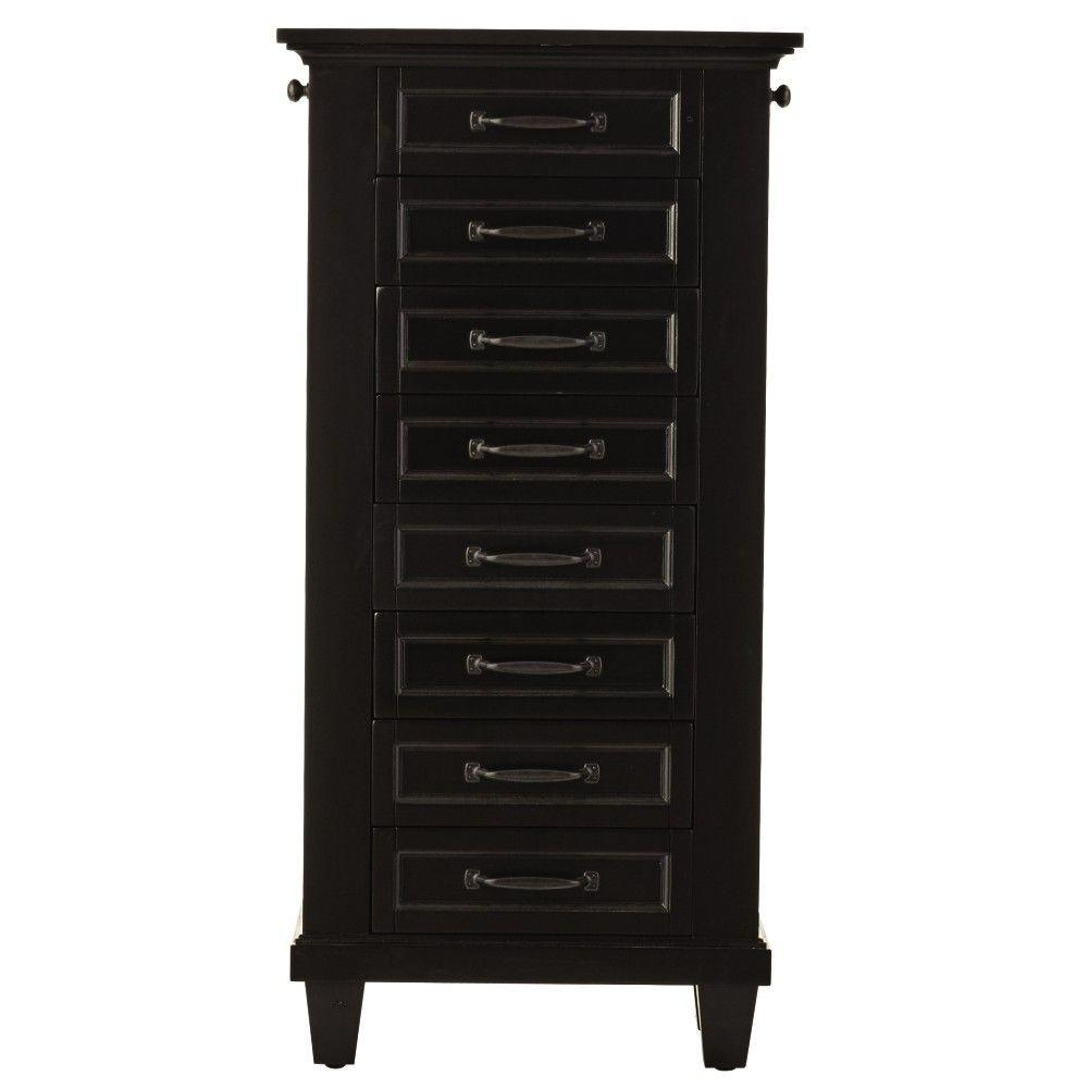 Home Decorators Collection Black Jewelry Armoire