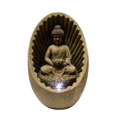 Buddha Tabletop Fountain with LED Light