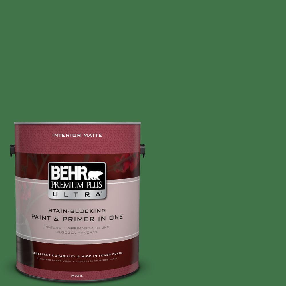 BEHR Premium Plus Ultra 1 gal. #P410-7 Grasslands Matte Interior Paint