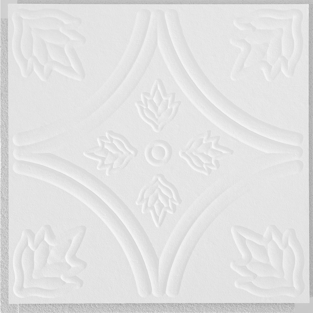 Armstrong CEILINGS Circles 1 ft. x 1 ft. Clip Up or Glue Up Fiberboard Ceiling Tile in White (40 sq. ft./case)