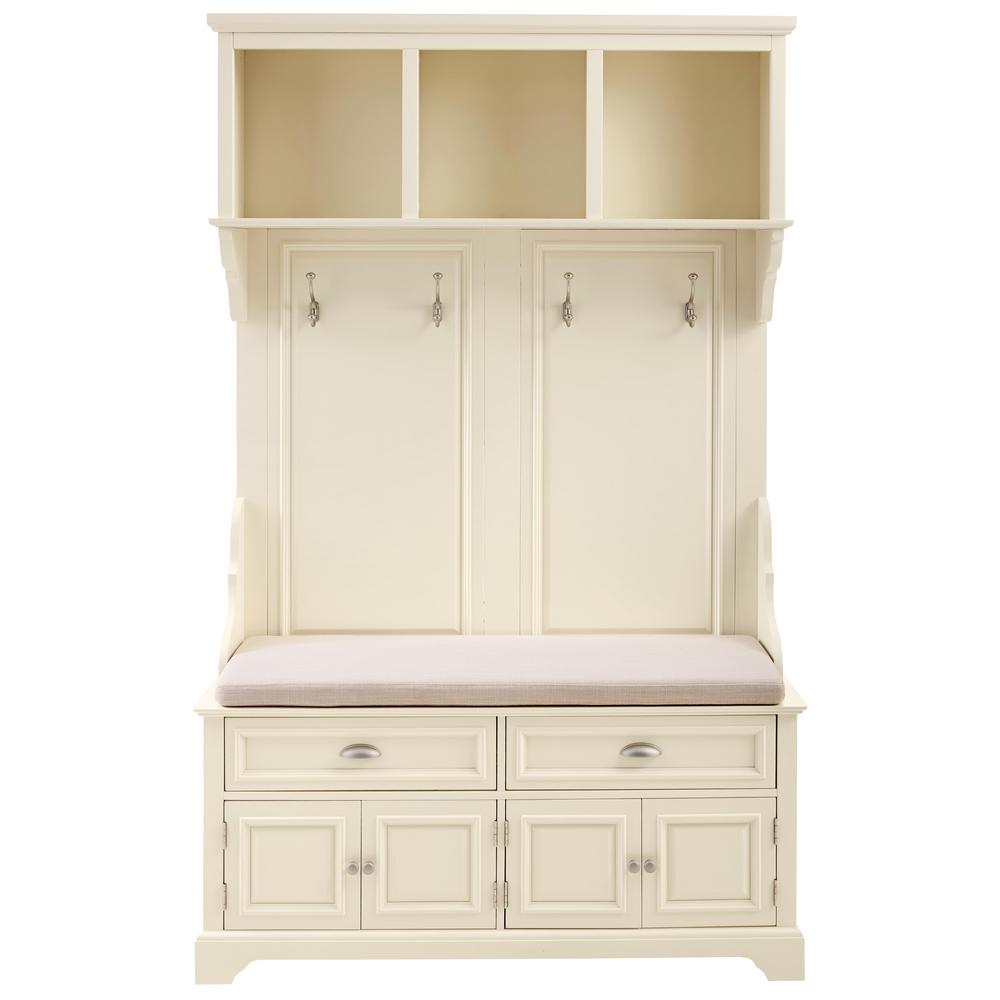Home Decorators Collection Sadie Ivory Double Hall Tree 9856110440 The Home Depot