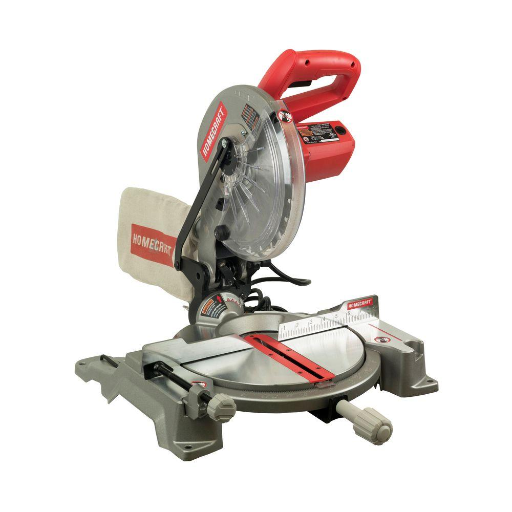 Homecraft 14 amp 10 in compound miter saw with laser h26 260l the compound miter saw with laser greentooth Images