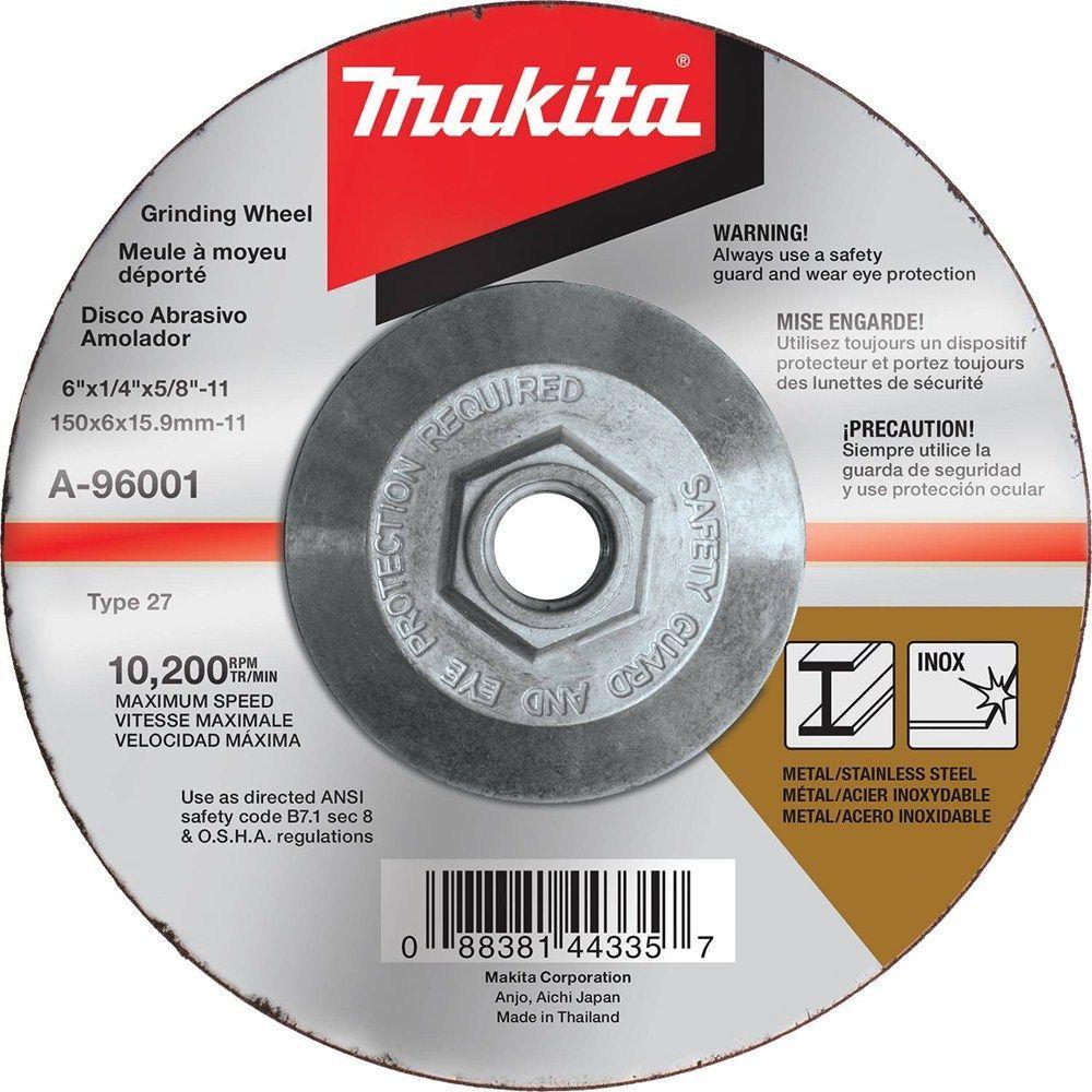 6 in. x 1/4 in. x 5/8 in. 36-Grit INOX Grinding Wheel