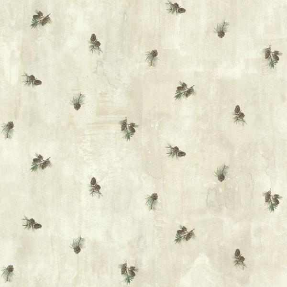 Chesapeake Brantley Grey Pinecone Toss Wallpaper TLL49468