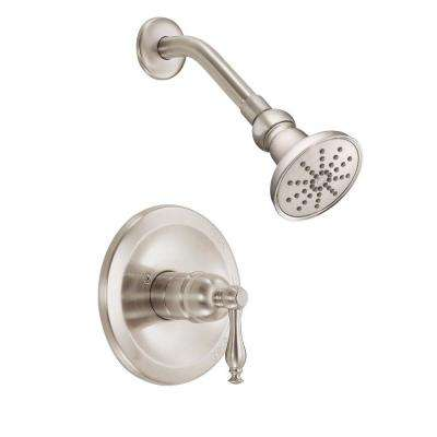 Sheridan Single-Handle Pressure Balance Shower Faucet Trim Kit in Brushed Nickel (Valve Not Included)