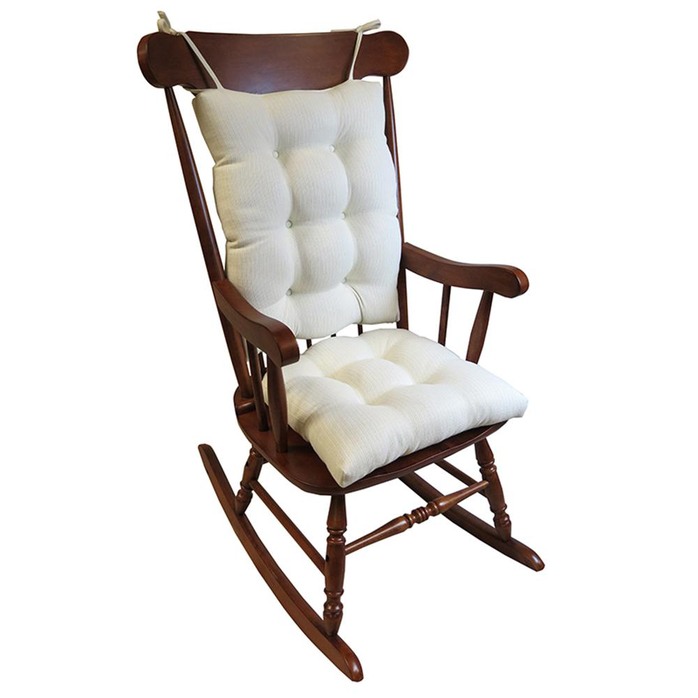 Charmant Gripper Omega Ivory Jumbo Rocking Chair Cushion Set