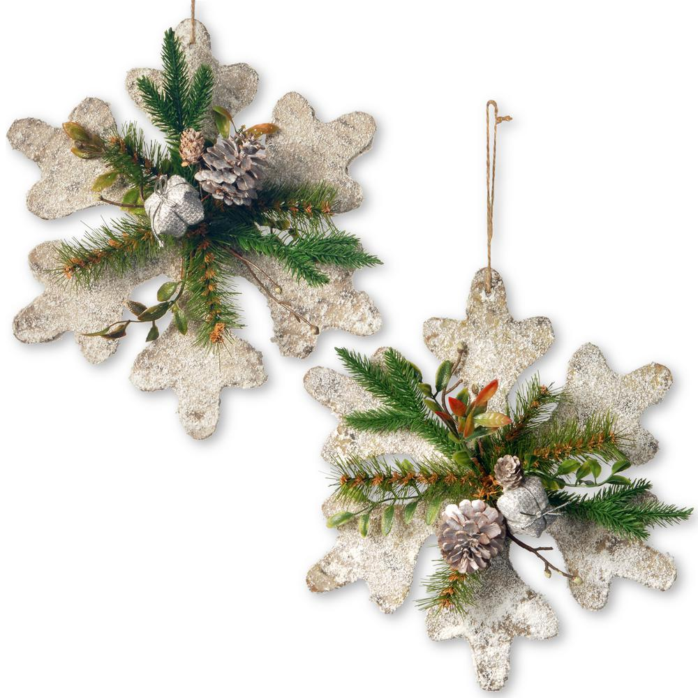 12 in. Snowflake Decoration Set