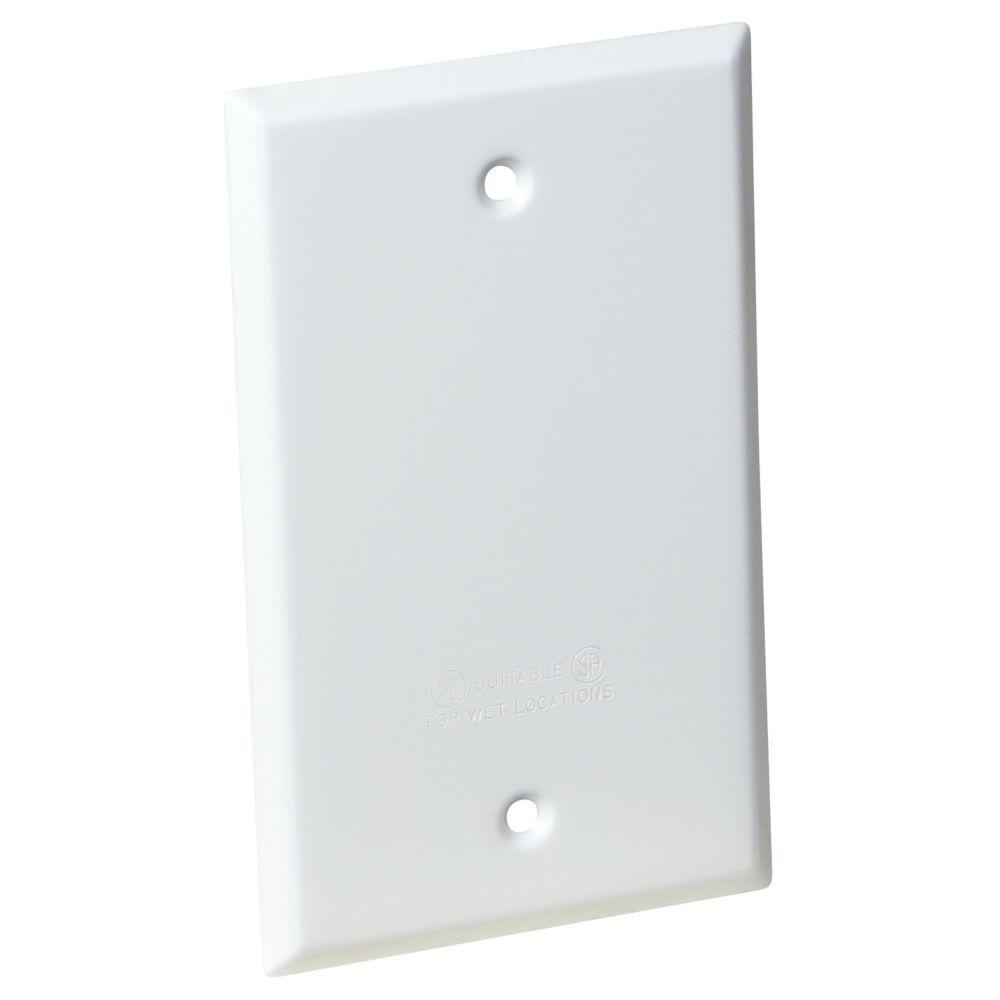 1-Gang Rectangular Blank Cover - White