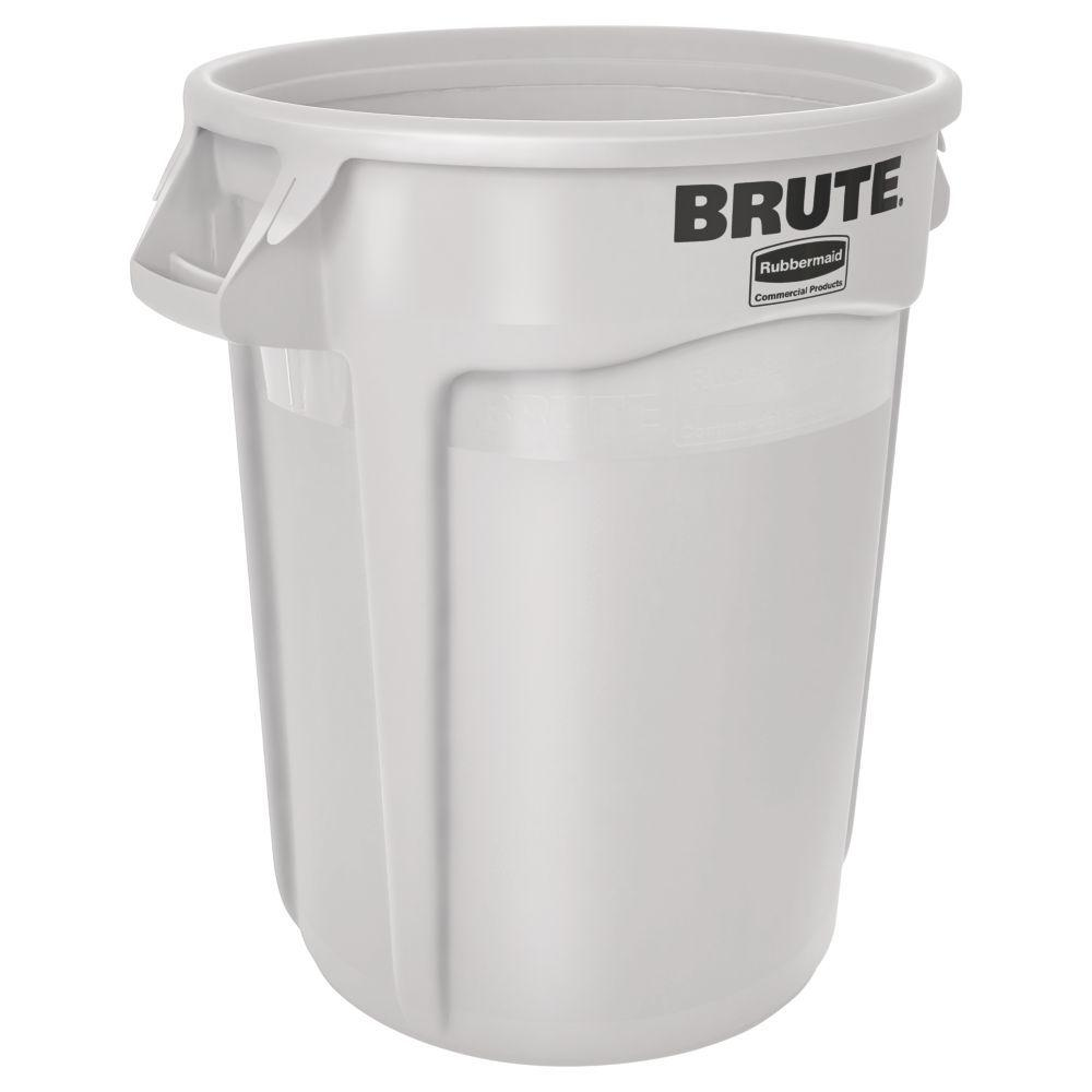 plaza 50gallon garbage can beige rcp bei