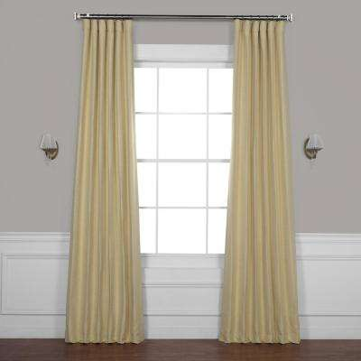 Autumn Glow Blue Bellino Blackout Room Darkening Curtain - 50 in. W x 96 in. L