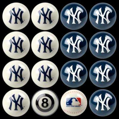 New York Yankees Home Vs Away Billiard Ball Full Set of 16