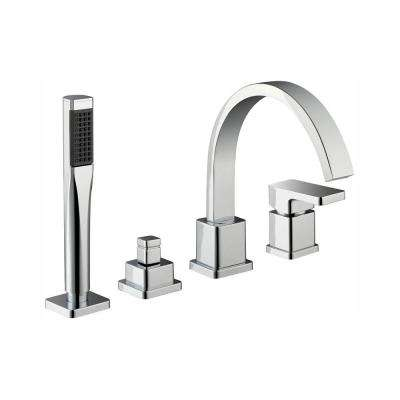 Marx Single-Handle Deck Mount Roman Tub Faucet with Handshower in Chrome