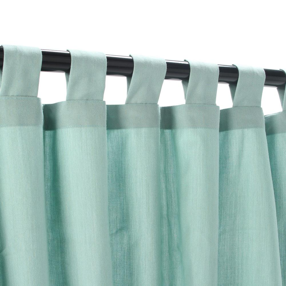 50 in. x 108 in. Outdoor Single Curtain with Tabs in