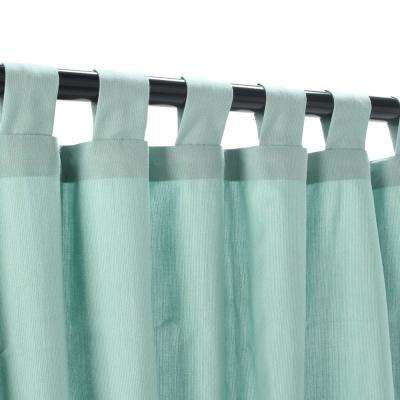 50 in. x 108 in. Outdoor Single Curtain with Tabs in Mist