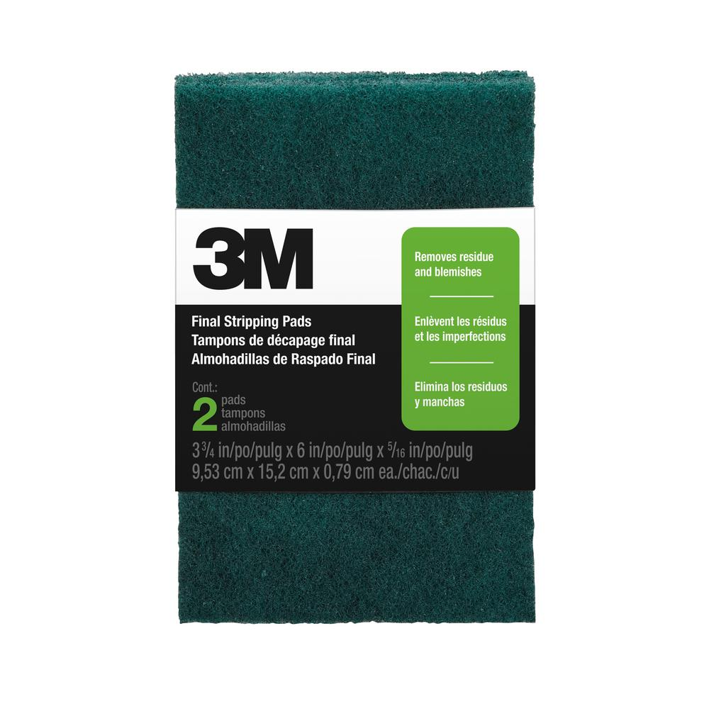 3M 3-3/4 in. x 6 in. x 5/16 in. Final Stripping Pads (2-Pack)