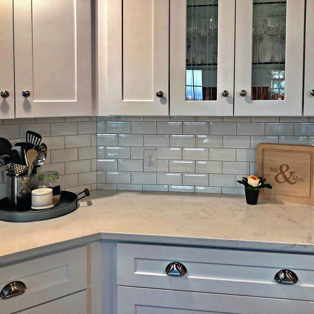 Merola Tile Park Slope Subway Beveled Glossy White 3 In X 6 Ceramic Wall 19 18 Sq Ft Case