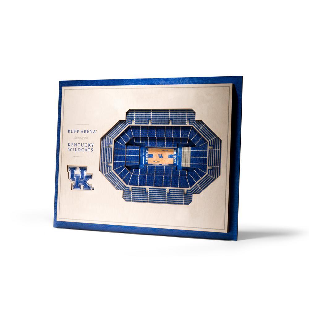 Ncaa Kentucky Wildcats 5 Layer Stadiumviews 3d Wooden Wall Art