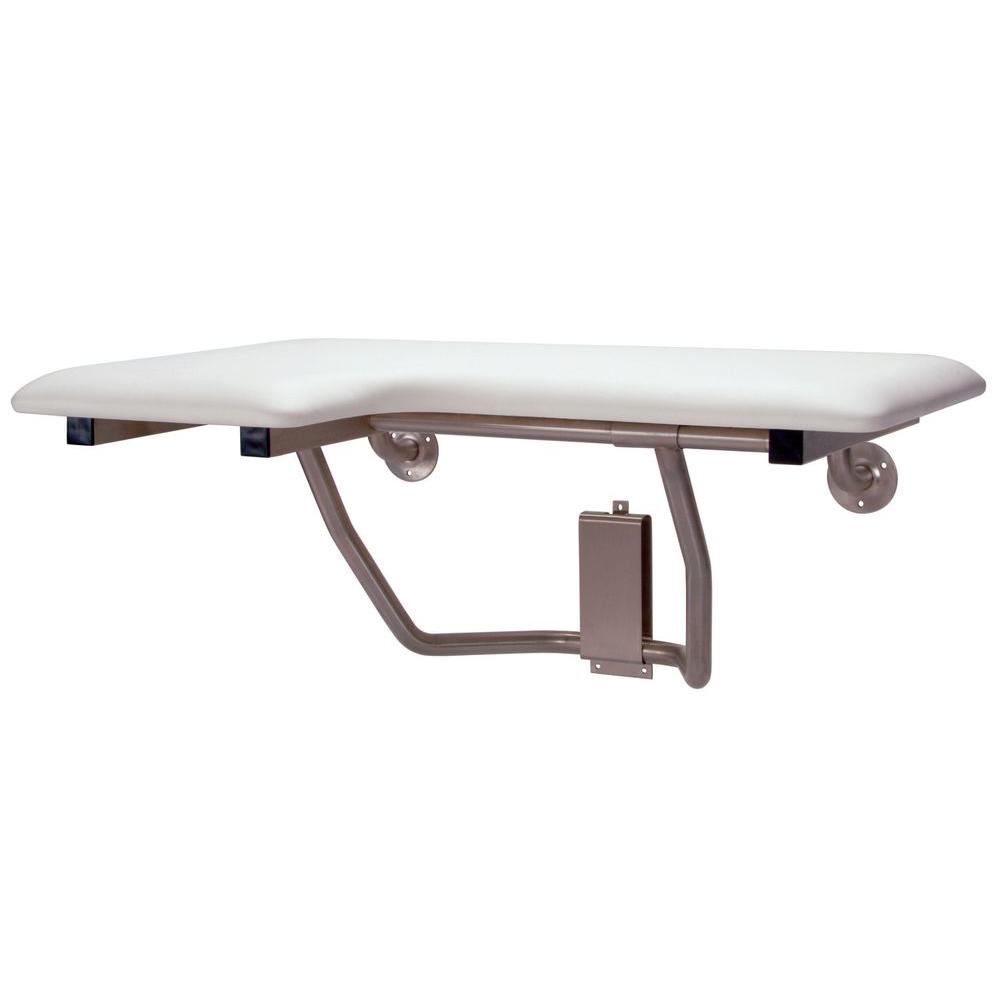 MUSTEE CareGiver 32 In. Right Hand Shower Seat Bench 390.403   The Home  Depot
