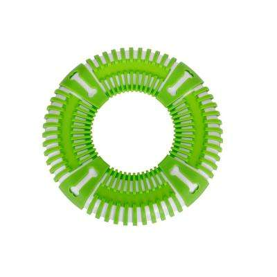 Green Flex Bark Flexible Frisbee Extreme Outdoor Training Durable Fetch Dog Toy