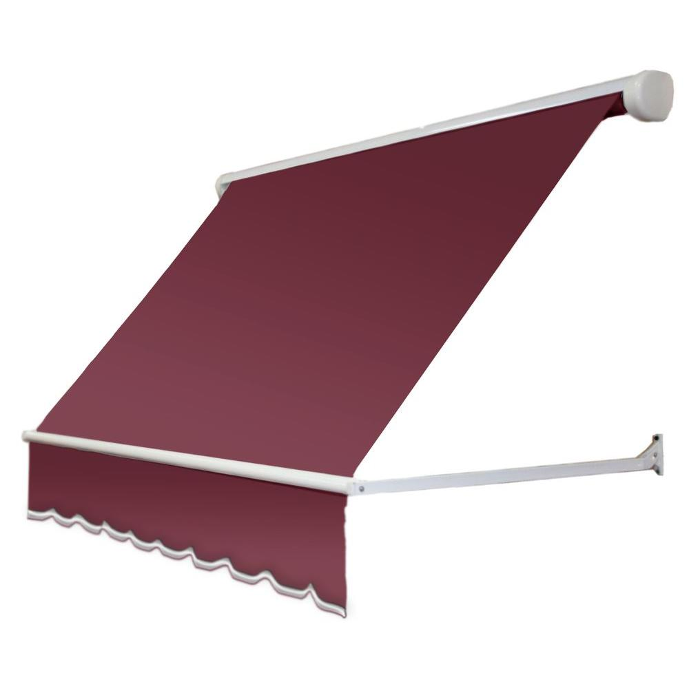 8 ft. Mesa Window Retractable Awning (24 in. Projection) in Burgundy