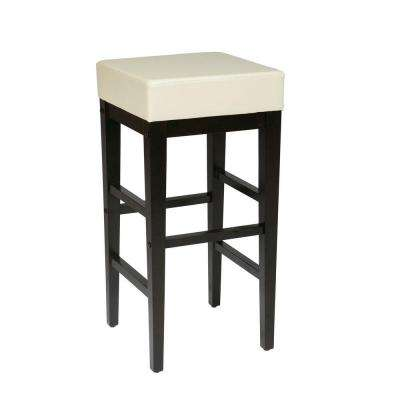 30 in. Espresso Cushioned Bar Stool