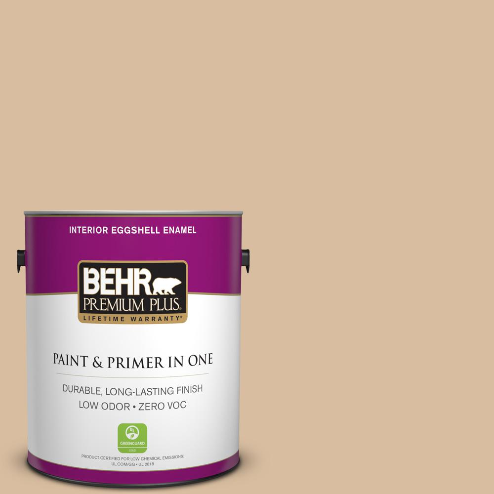 1 gal. #PPU4-14 Renoir Bisque Zero VOC Eggshell Enamel Interior Paint