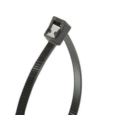 8 in. Self Cutting Cable Tie Black 50lb (50-Pack) Case of 10