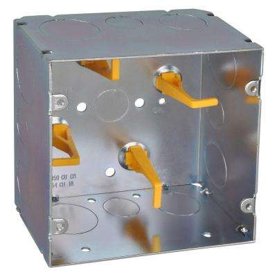 5 in. Steel Square Box with Cable Management Posts and Knockouts (20 per Case)