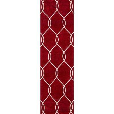 Bliss Red 2 ft. x 8 ft. Indoor Runner Rug