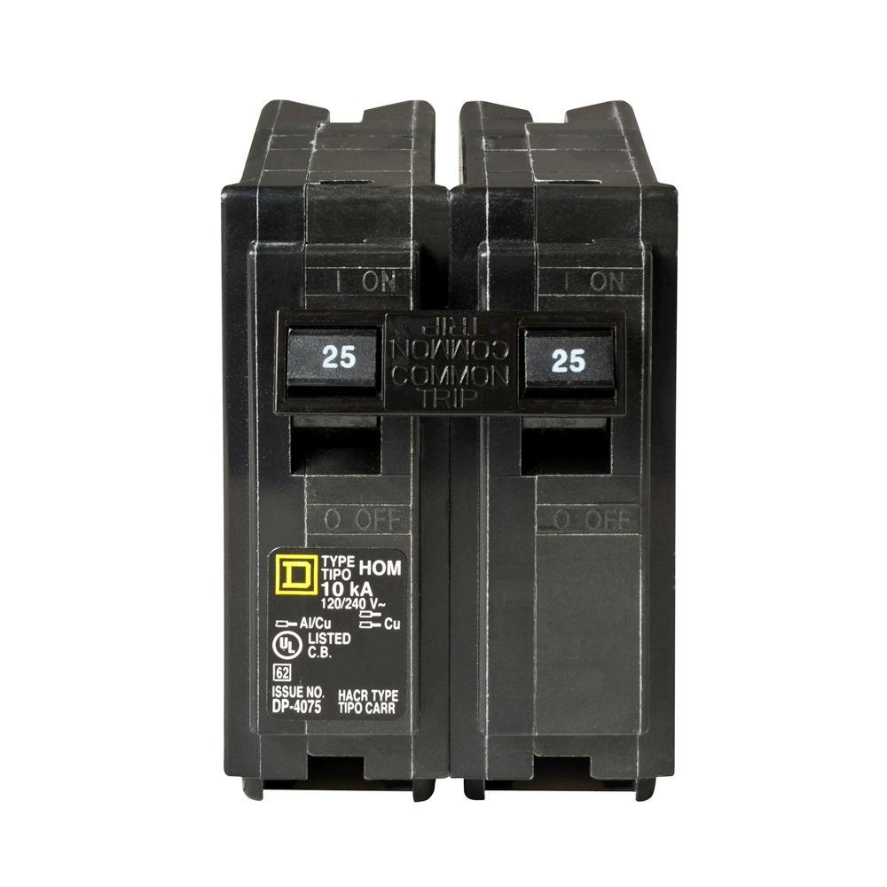 Homeline 25 Amp 2-Pole Circuit Breaker