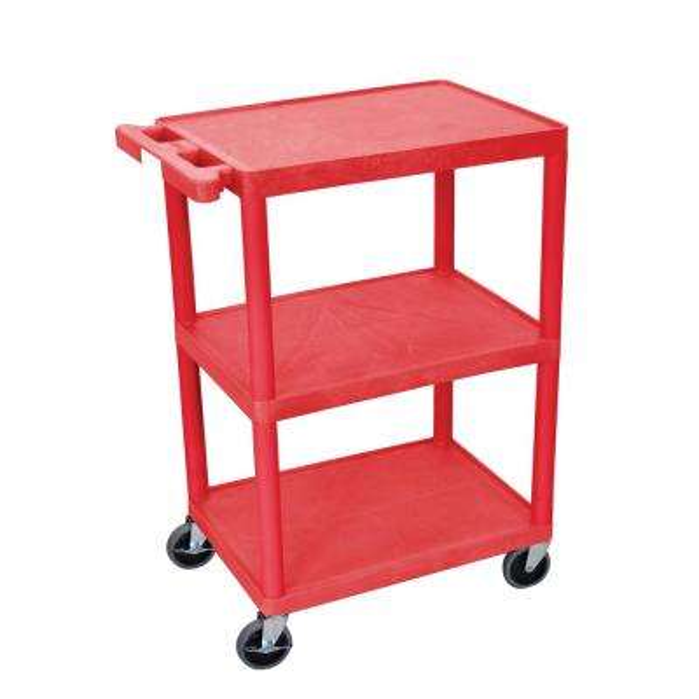 HE 32 in. 3-Shelf Utility Cart in Black