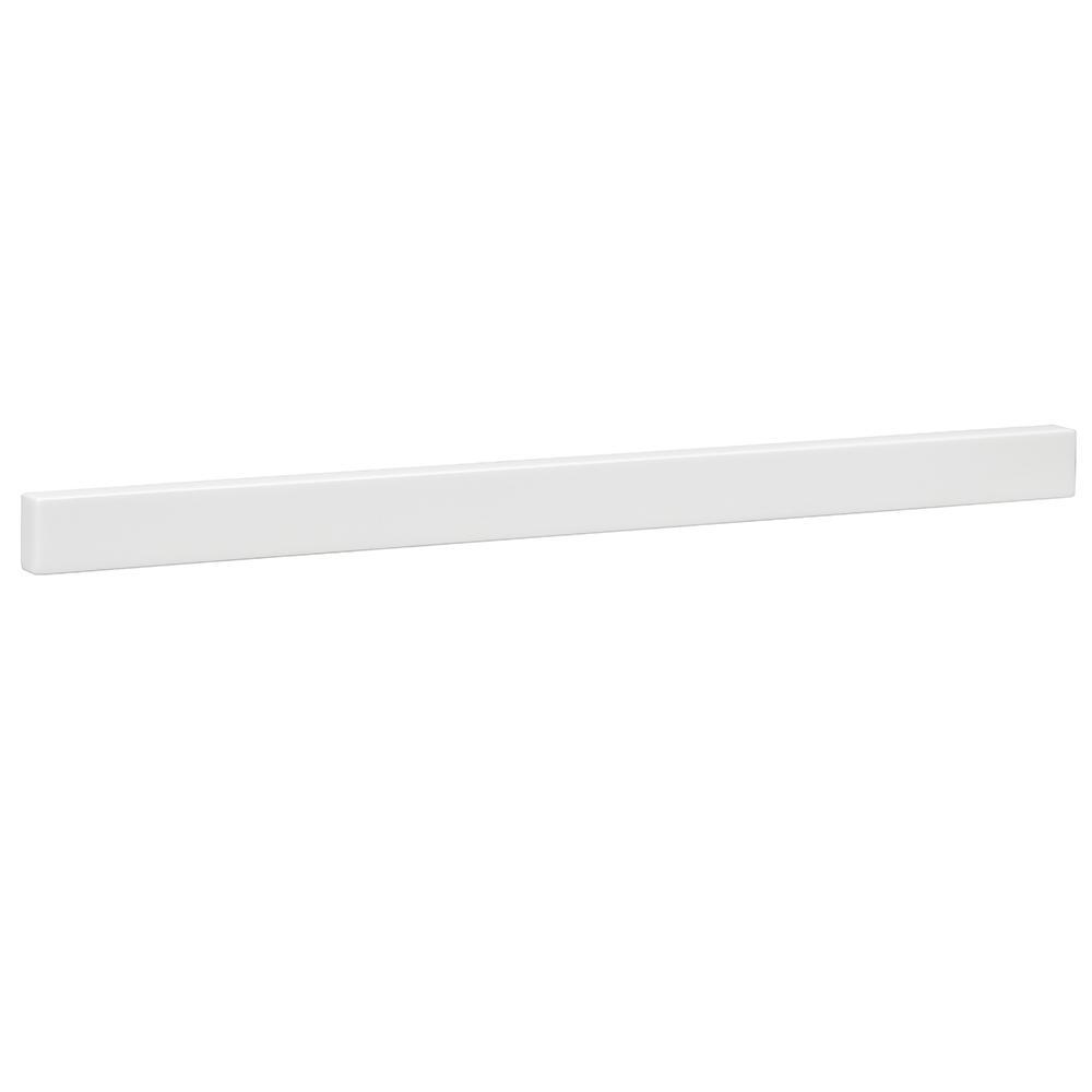 36-1/2 in. Cultured Marble Backsplash in White