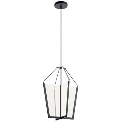 Calters 28.5 in. Integrated LED Black Foyer Pendant