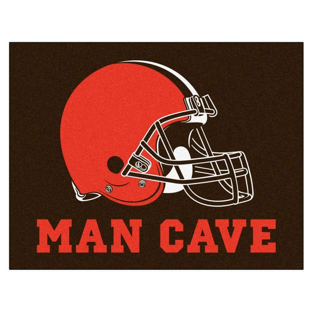 Cleveland Browns Orange Man Cave 3 ft. x 4 ft. Area Rug