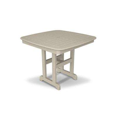 Yacht Club 37 in. Sand Castle Patio Dining Table