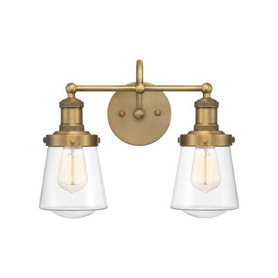 Taylor 2-Light Old Satin Brass Vanity Light