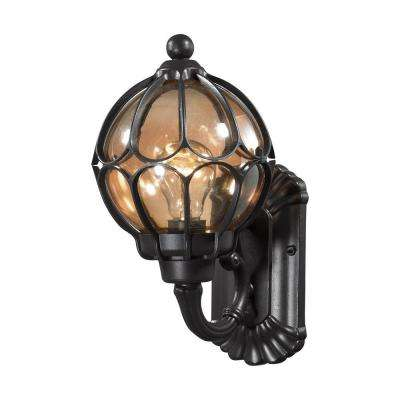 Madagascar 1-Light Matte Black Outdoor Sconce