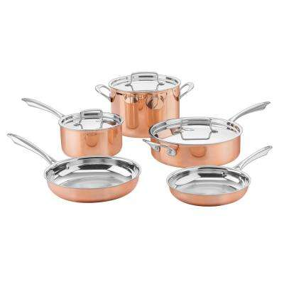 Copper Collection 8-Piece Tri-Ply Cookware