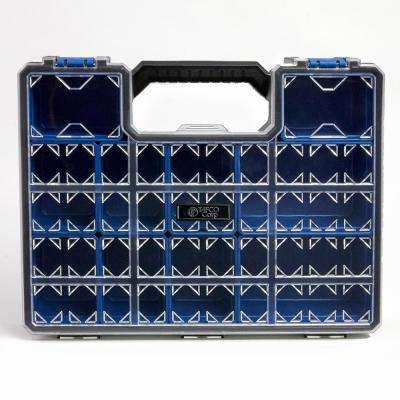 10-Compartment Pro-Go Deep Cup Small Parts Organizer, Blue