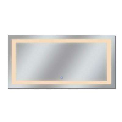 Edison Tri-Color 72 in. x 38 in. Single LED Wall Mounted Backlit LED Bathroom Mirror