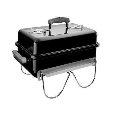 Go-Anywhere Portable Charcoal Grill in Black