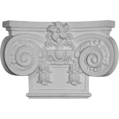 19-5/8 in. x 5-1/8 in. x 13-3/8 in. Primed Polyurethane Large Empire Capital with Necking