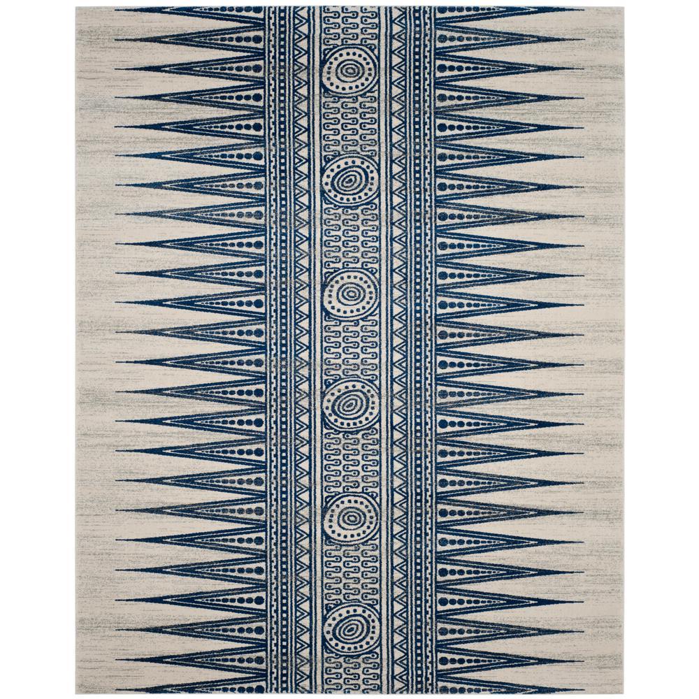 Evoke Ivory/Blue 8 ft. x 10 ft. Area Rug